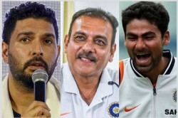 Yuvraj Singh Ravi Shastri And Other Cricketers Celebrates India S World Cup 1983 Win