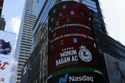 Mohun Bagan Features On Nasdaq Billboards