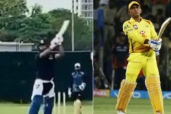 Have You Seen Rishabh Pant Pulls Off Ms Dhoni S Helicopter Shot Upon Return To Outdoor Training