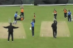 Umpire Signals Wide And Reverses His Decision To Out Seconds Later In Ireland Women S Super 50 Serie