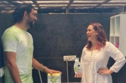 Former Indian Cricketer Yuvraj Singh Captured Washing Utensils By Mother Hazel Keech Makes Fun
