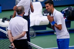 Novak Djokovic Says Sorry After Defaulting Us Open Match For Hitting Line Umpire With Ball