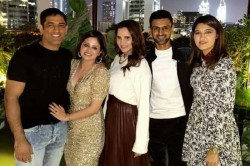 Ms Dhoni And Shoaib Malik Reunite With Their Families On Sakshi Dhonis Birthday