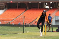 Team India Practice Under Lights Ahead Of Pink Ball In Motera Stadium