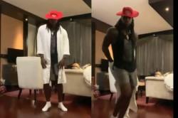 Ipl 2021 Punjab Kings Batsman Chris Gayle Performs Moonwalk After Finishing His Quarantine