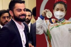 Team India Captain Virat Kohli Special Greeting To Weightlifter Mirabai Chanu